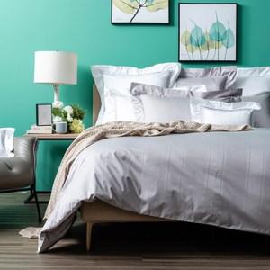 (組)義式孟斐斯床被組雙人灰+天然羽絨防蟎抗菌對枕+9010長效防蟎羽絨冬被雙人