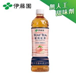 伊藤園 TEAS'TEA 蜜桃紅茶PET535mLx24入 箱購