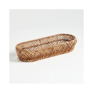 Crate&Barrel Herringbone 編織淺籃