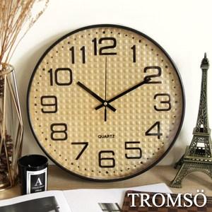 TROMSO紐約時代玫瑰金靜音時鐘金采方格金