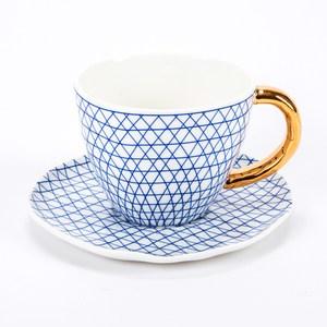 HOLA 荷莉彩繪杯碟組 藍