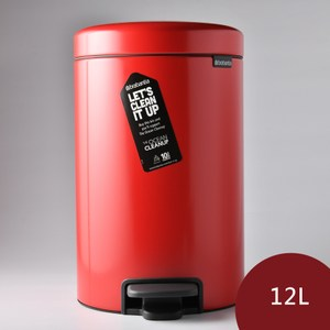 Brabantia Newicon 腳踏式時尚環保垃圾桶12L 熱情紅
