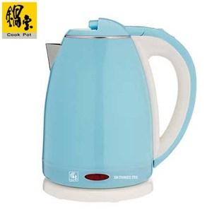 鍋寶 1.8L雙層防燙不鏽鋼快煮壺 KT-1891B(藍)