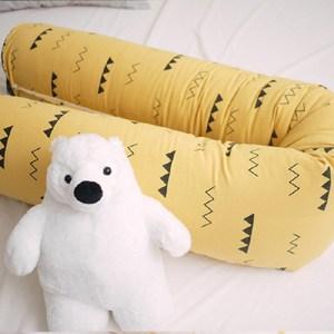 韓國Kangaruru袋鼠寶寶防蹣安全寢具防跌落床圍 175cm【黃色小山丘】