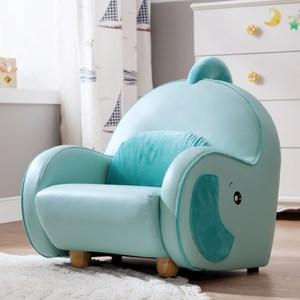 林氏木業 動物卡通迷你可愛兒童沙發座椅RAD1Q-湖水藍