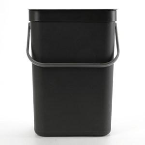 HOLA 沃爾多功能可壁掛垃圾桶 12L 黑