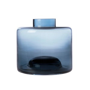 窄口透明小花器深藍11cm