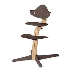 丹麥nomi 多階段兒童成長學習調節椅餐椅經典組-咖啡咖啡色