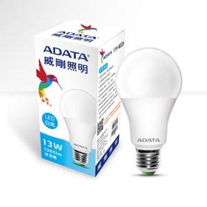 ADATA 威剛照明 13W大角度LED球泡燈-白光(4入)