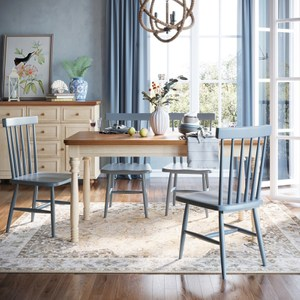 林氏木業地中海小戶型餐桌 1.4M DCT02+餐椅 DCY01 (一桌四椅)