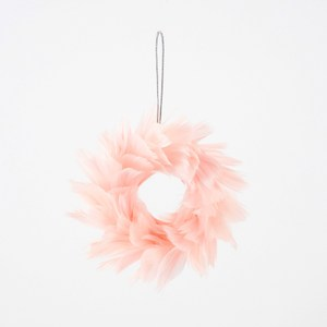 羽毛圈吊飾 粉紅