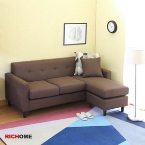 【RICHOME】莎莎伊奈L型沙發-2色灰色