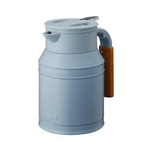MOSH 1L牛奶罐保溫壺 綠松石