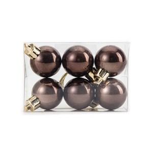 吊飾球6入組 珠光咖啡3cm