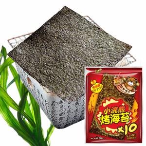 【小浣熊】零油脂烤海苔5gx10片/包(經典辣味6包)