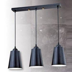 YPHOME 直式純黑三吊燈 S84371H
