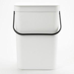 HOLA 沃爾多功能可壁掛垃圾桶 12L 白