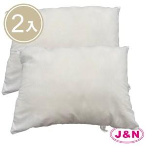 【J&N】台灣製抱枕心30*45-300克(2入/ 1組)白色
