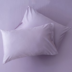 HOLA 經典素色純棉美式枕套 2入 典紫色