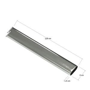 15mmx30mmx1200mm橢圓鐵管一入,鍍鉻色