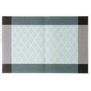 HOLA PVC編織餐墊30x45cm 方框藍