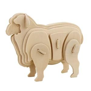木質拼圖系列-可愛綿羊 JP252