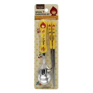 樂扣樂扣HELLOBEBE不鏽鋼餐具組/湯匙+筷子