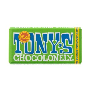 荷蘭Tony's Chocolonely杏仁海鹽黑巧克力51%180g