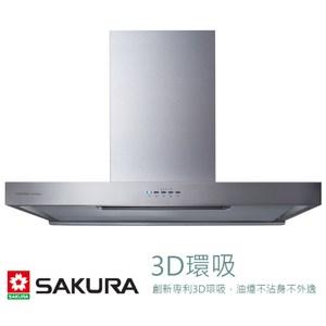 櫻花 SAKURA 歐化除油煙機 渦輪變頻3D環吸系列 W90CM DR7786ASXL [不鏽鋼]
