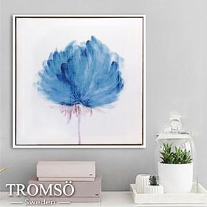 TROMSO時尚風華抽象有框畫方形 墨染香洋花50x50cm
