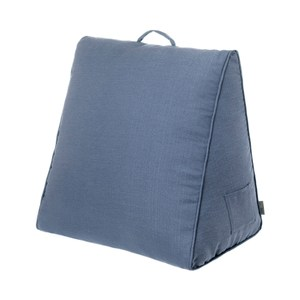 HOLA 新素色織紋三角大靠墊57x50x30cm靛藍色